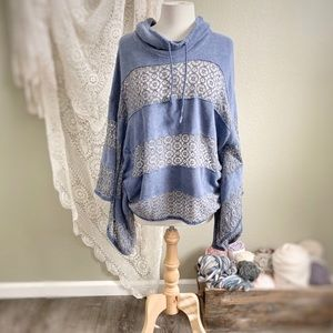 FREE PEOPLE | Mama Blue Crochet Poncho